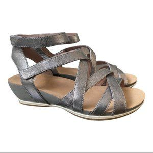 Dansko New Women's Sandal Veruca Graphite Leather  size 38